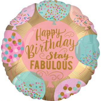 Ballon happy birthday stay fabulous