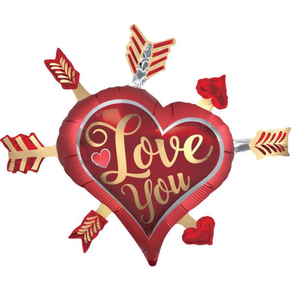Ballon coeur love you