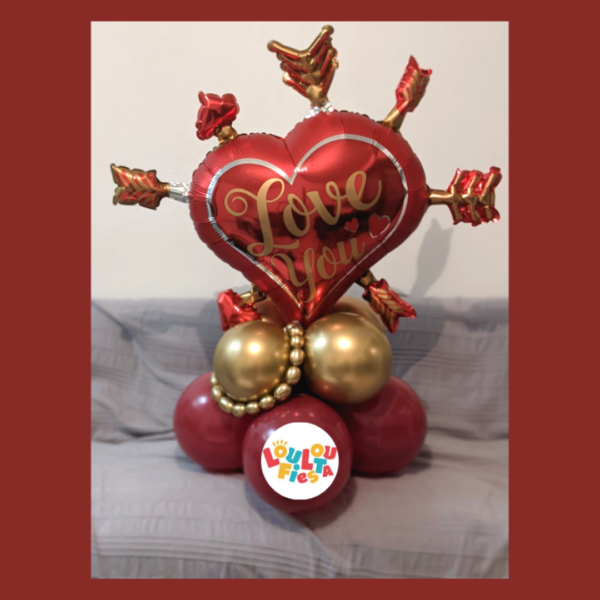 Ballon coeur love you st valentin
