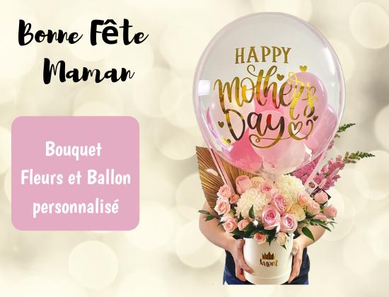 bouquet fleurs ballons